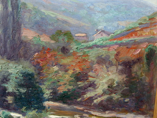 Charles COLIN - Painting - PAYSAGE BASQUE