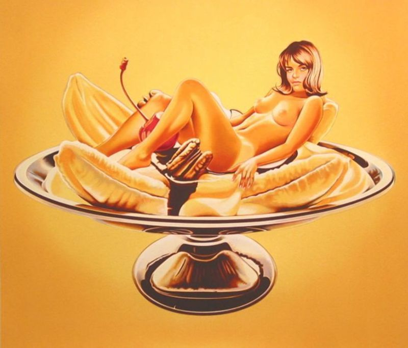 Mel RAMOS - Grabado - Banana Split