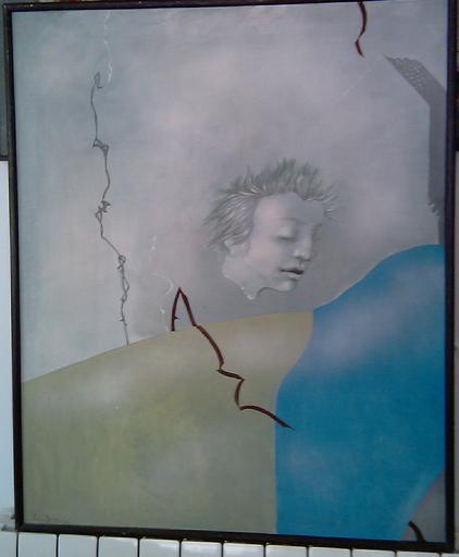 """Eduardo ARRANZ-BRAVO - Pintura - """"GRI GRI"""" FET A MARGODÍ"""