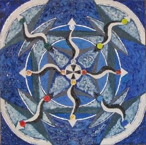 ATCHAMA - Painting - Danse astrale II
