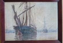 Albert Ferdinand DUPRAT - Dibujo Acuarela - bordeaux le port