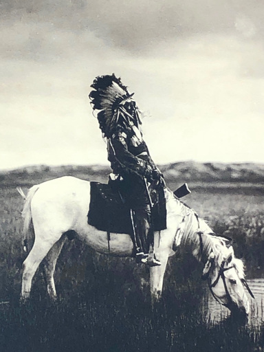 Edward S. CURTIS - Photo - An Oasis in the Badlands