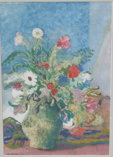 Hubert BERKE - Drawing-Watercolor - Blumenstilleben