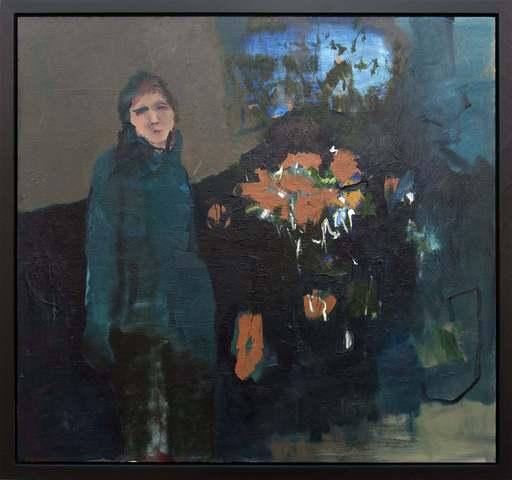 Jennifer HORNYAK - Peinture - Woman in Blue
