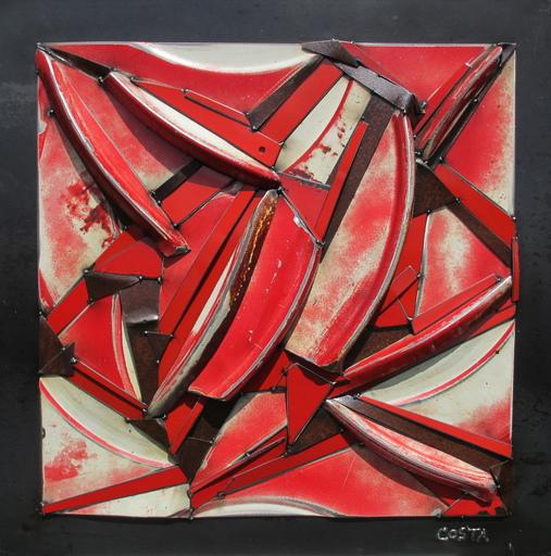 Fernando DA COSTA - Scultura Volume - Rouge délavé