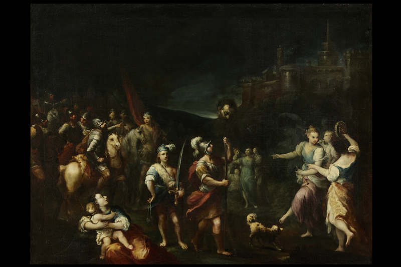 Antonio GIONIMA - Painting - David's triumph
