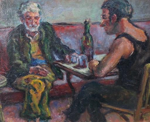 Renée UNIK - Painting - Le bistrot