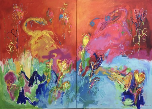 Nicole LEIDENFROST - Gemälde - Digging Dogs