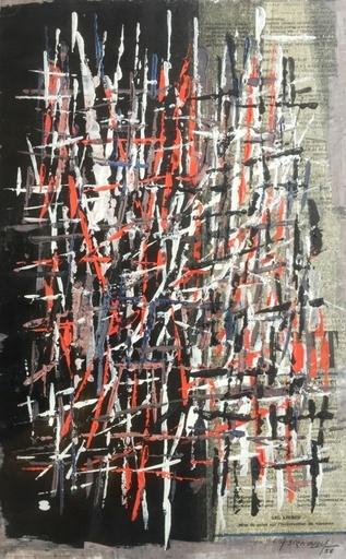 Jean SIGNOVERT - Gemälde - Abstraction Tournon