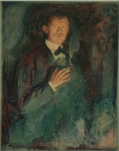 Edvard MUNCH (1863-1944) - Self-portrait with Cigarette ( Selbstbildnis mit Zigarette )