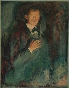 Edvard MUNCH, Self-portrait with Cigarette ( Selbstbildnis mit Zigarette )