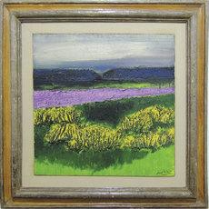 Carlo MATTIOLI - Painting - Campo di lavanda