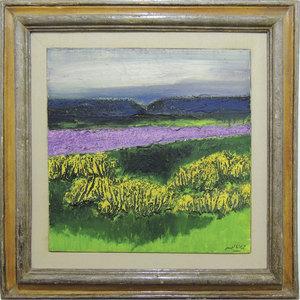 Carlo MATTIOLI - Peinture - Campo di lavanda
