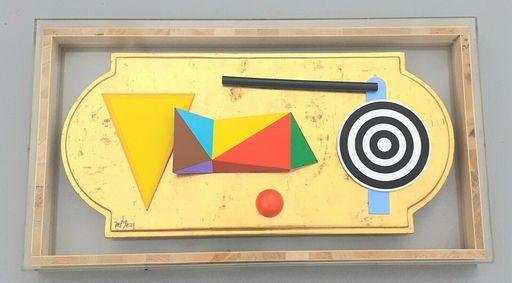 Lucio DEL PEZZO - Pittura - Tavola oro con bersaglio