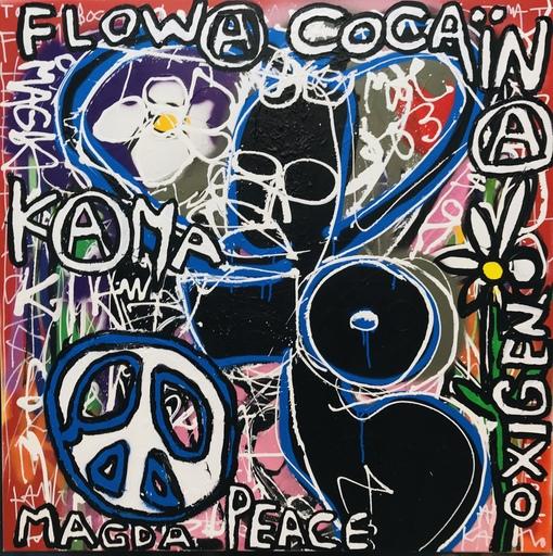 KOKIAN - Peinture - MAGDA PEACE ( OXIGEN)
