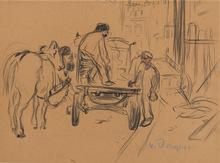 Kees VAN DONGEN - Drawing-Watercolor - Le chantier
