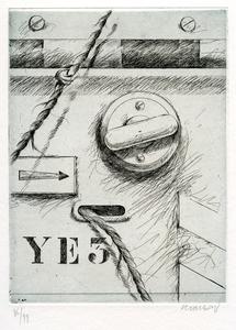 Peter KLASEN - 版画 - GRAVURE SIGNÉE AU CRAYON NUM/99 HANDSIGNED NUMB/99 ETCHING