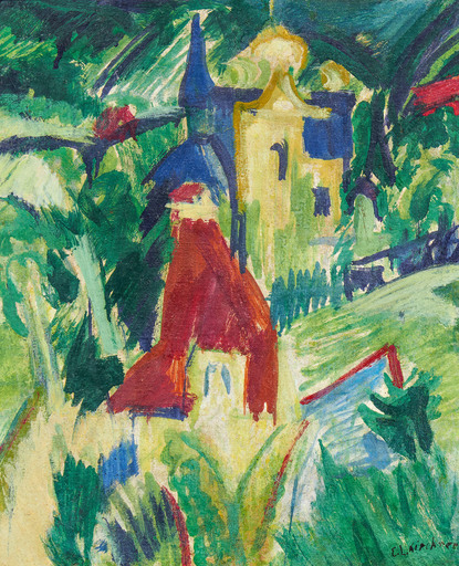 Ernst Ludwig KIRCHNER - Painting - Mansions
