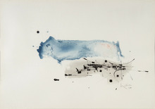 Georges MATHIEU - Dessin-Aquarelle - Composition 1960