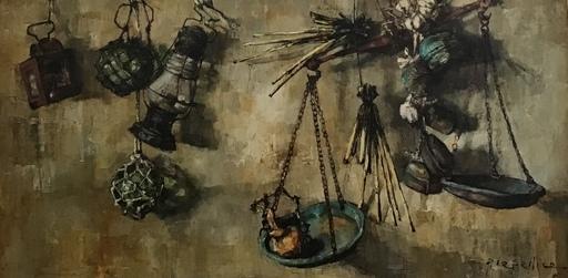 Pierre LETELLIER - Pintura - aux plateaux de balances