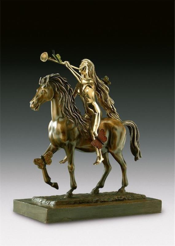 萨尔瓦多·达利 - 雕塑 - Lady Godiva Avec les Papillons
