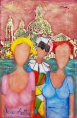 Valerio BETTA - Pintura - Venezia  S. Maria della Salute- Selfie in Venice Low price