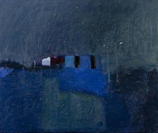 Klaus Karl MEHRKENS - Peinture - Sieblung blau