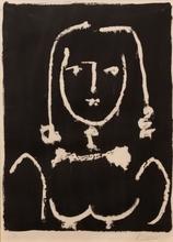 Pablo PICASSO - Print-Multiple - Buste blanc sur Noir