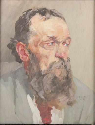 Emil Ludwig EULER - Dessin-Aquarelle - Selbtportrait