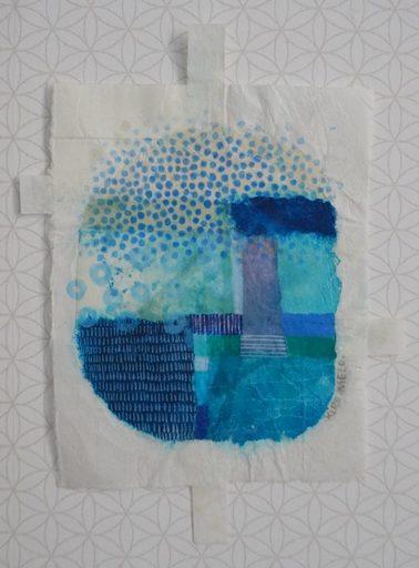 Marie LHOMET - Drawing-Watercolor - « Dots, classic blue pantone 2 »