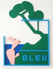 Claude GILLI (1938-2015) - Bleu