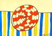 Alexander CALDER - Peinture - Wheel and Stripes