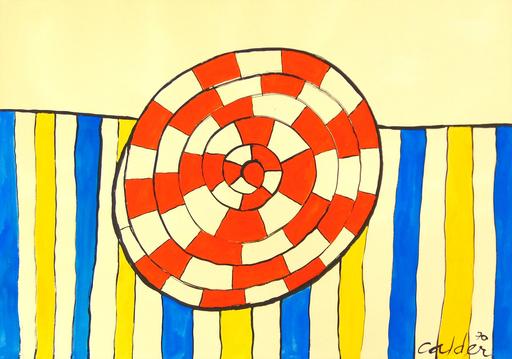 Alexander CALDER - Painting - Wheel and Stripes