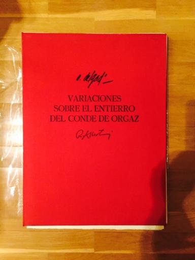 """Álvaro DELGADO - 版画 - """"variaciones sobre el entierro del conde de orgaz"""""""