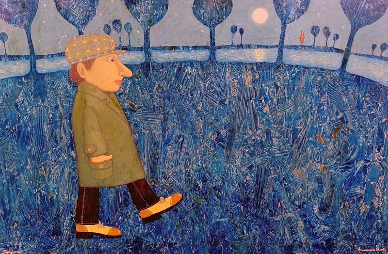 Roman ANTONOV - Pittura - Walk