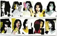 Andy WARHOL - Estampe-Multiple - Mick Jagger Promotional Cards (10)