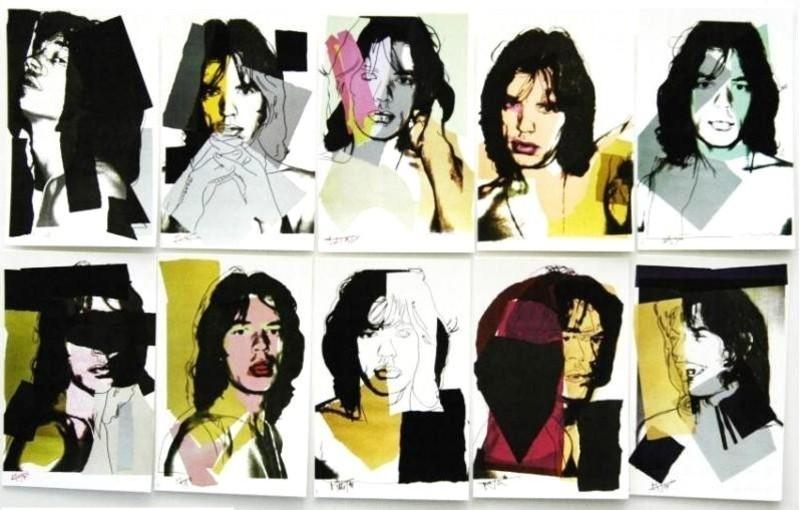 Andy WARHOL - Grabado - Mick Jagger Promotional Cards (10)