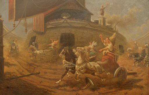 Adolf BAUMGARTNER-STOILOFF - Gemälde - römisches Wagenrennen Circus Maximus, Russia, Italy,Roma