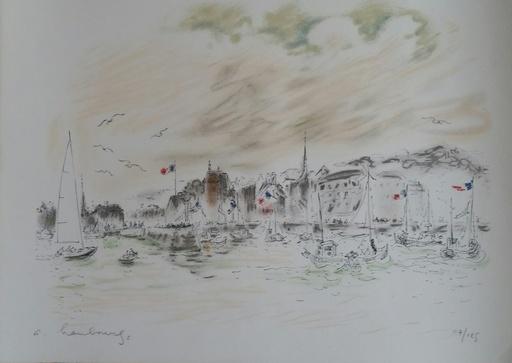 André HAMBOURG - Grabado - port