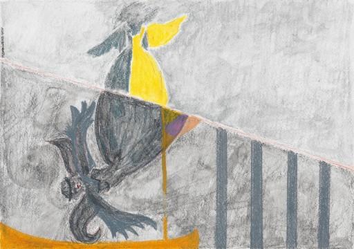 Reine BUD-PRINTEMS - Disegno Acquarello - Ange KARA - Fille-jonquille n°1