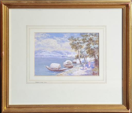 Charles Edmund ROWBOTHAM - Disegno Acquarello - Predore - Lake Iseo