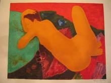 Alain BONNEFOIT - Estampe-Multiple - Nu de dos,1988..