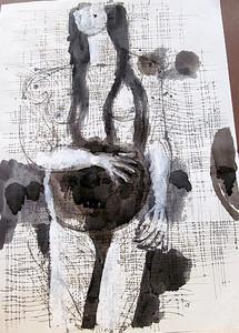 Karl KLUTH - Dibujo Acuarela - #19619: Frauenfigur