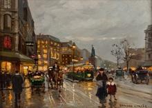 Édouard CORTES - Painting - Place de la Republique, Paris
