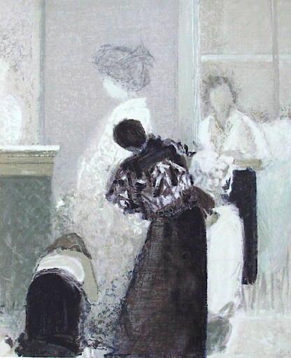 Dominique ANDRIER - Grabado - L'essayage