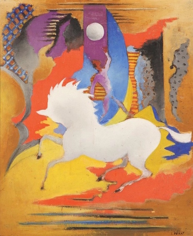 Serge FÉRAT - Painting - Cheval fantastique