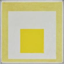 约瑟夫•亚伯斯 - 绘画 - Study to Homage to the Square - On loan