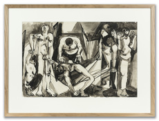 Peter DE FRANCIA - Drawing-Watercolor - Study for African Prison