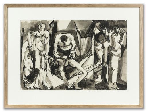 Peter DE FRANCIA - Disegno Acquarello - Study for African Prison