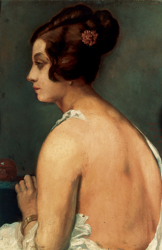 Emile Henri BERNARD - Peinture - Profilo di una veneziana,1922